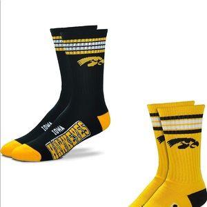 Brand new Dash Iowa Hawkeyes 2 pair Socks!